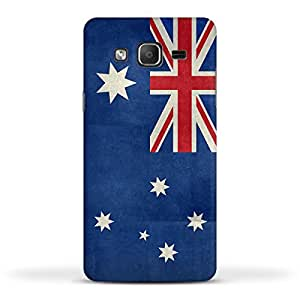 FUNKYLICIOUS Galaxy On5 Back Cover Flag of Australia vintage retro style Design (Multicolour)