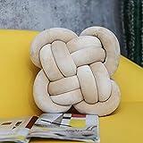 BAONZEN Cuscino INS Cuscino Annodato Nordic Knot Palla Cuscino Cuscino Decorativo Cuscino in Tinta Unita, Sezione a Forma di Fiore - Albicocca tenera