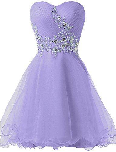 ivyd ressing Sweetheart pierres Femme Mini forme de cœur tuell robe robe Prom Cocktail Lave-vaisselle robe robe du soir Lilas