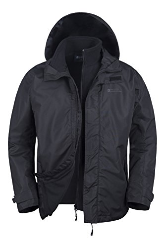Mountain Warehouse Giacca da uomo Fell 3 in 1 impermeabile Nero M