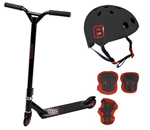 Funbee - Stunt Scooter + Helm (S 48-54cm) + Knieschützer + Handgelenkschutz - OFUN412