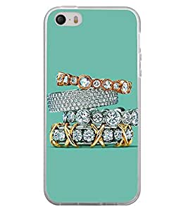 Diamond Rings 2D Hard Polycarbonate Designer Back Case Cover for Apple iPhone 5