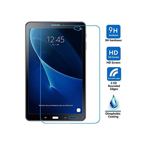 ELTD Samsung Galaxy Tab A 10.1 Displayschutz, Glas Folie Schutzfolie Glas Panzerfolie Displayschutzfolie Für Samsung Galaxy Tab A 10.1 T580N/T585N 2016 Klar Anti-Kratz Screen Protector Displayschutz - 9H Hardness aus