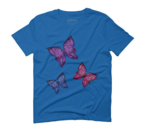 polygonal butterfly Men's Graphic T-Shirt - Design By Humans Royal Blue