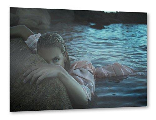 """Preisvergleich Produktbild artboxONE Poster 120x80 cm Natur Reise Reise / Strand und Meer Menschen Liebe """"Save"""" blau hochwertiger Design Kunstdruck - Bild Natur Reise Reise / Strand und Meer Menschen Liebe von Claudia Hantschel"""