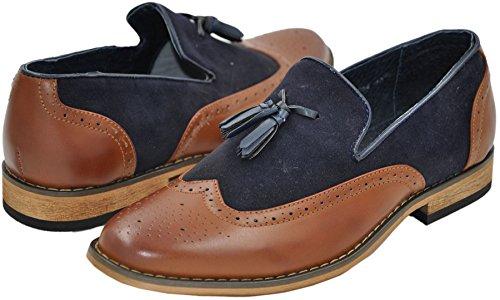 mocassins homme à doublure intérieure cuir mocassin1 bicolore 3054