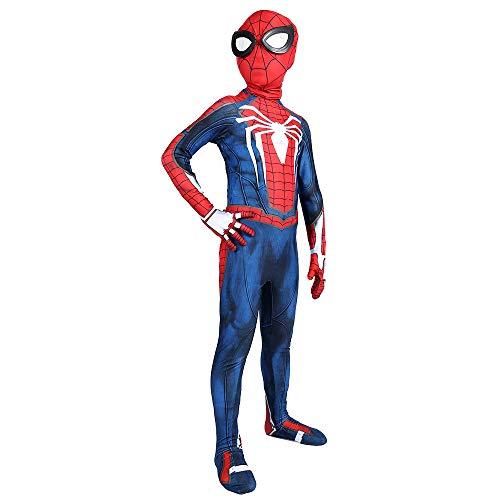 Hope Erwachsene Kinder Spider-Man Kostüm Onesie Zentai Tier Cosplay Outfit Kostümfest Halloween Kleidung Lycra Spandex,Child-XS