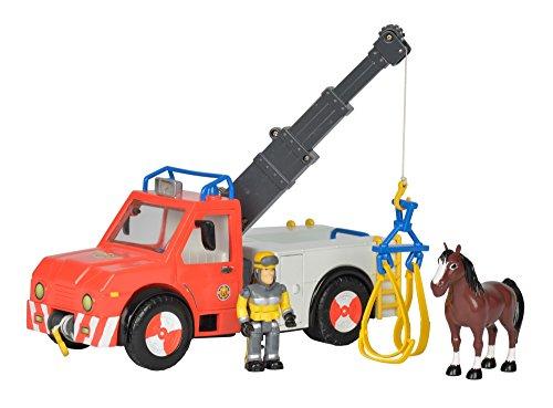 feuerwehrmann sam spielfiguren Simba 109258280 - Feuerwehrmann Sam Phoenix Rettungsfahrzeug mit Figur und Pferd