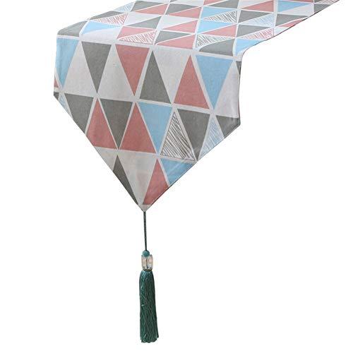 Chemin de table Chemin de table, drapeaux de table triangulaires pour fournitures de mariage d'anniversaire Tapis de fête pour la famille Tapis de café Hôtel Literie (taille : 33×140cm)