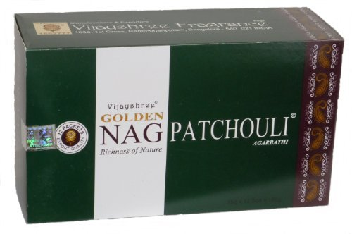 180gms Box Of Golden Nag Patchouli Räucherstäbchen Agarbathi-in Lager und Versand durch Busy Bits
