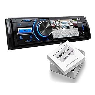 JVC-KDX560BT-1-DIN-Media-Receiver-Farbdisplay-fr-Rckfahrkamera-fr-Chrysler-Sebring-JR-2001-2007-schwarz