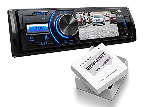 JVC-KDX560BT-1-DIN-Media-Receiver-Farbdisplay-inklusive-Kamera-fr-Peugeot-206-206-CC-1998-2007-schwarz