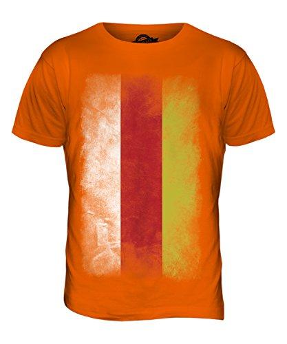 CandyMix Südossetien Verblichen Flagge Herren T Shirt Orange