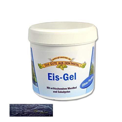 Eis-Gel/Eisgel mit erfrischendem Menthol und Eukalyptus Kühlgel für alle Hauttypen geeignet Made in Deutschland 200 m Inkl. 1x 4betterdays Lineal aus Steinpapier -