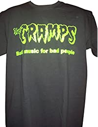 Blue Bagal Mens The Cramps 'Bad Music For Bad People' T Shirt