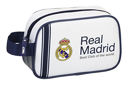 Safta 811654234 Real Madrid Neceser, Color Blanco