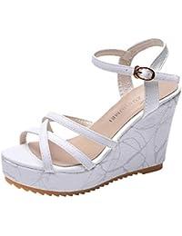 Zapatos Plataforma es 2040892031 Sandalias Amazon Corcho Suela WgcqyCR