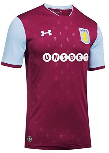 Under Armour Aston Villa 17 18 Home S S Football Shirt - Royal Magenta - Size M