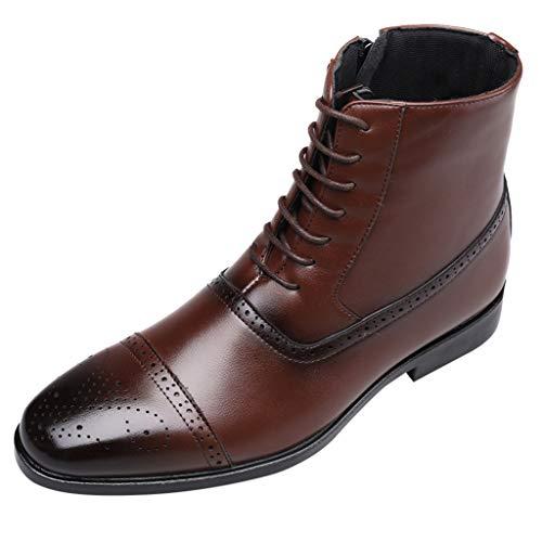 SuperSU-Stiefel ➯➲Herren Herbst Casual Business Langschaft Stiefel Klassiker Pointed Toe Stiefelette Reißverschluss Reitstiefel,Männer rutschfeste Arbeitsstiefel Freizeitstiefel (Für Säuglings-western-stiefel Jungen)