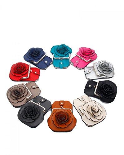 LeahWard® MINI Größe!!! Damen Mode Essener Blume Umhängetasche Qualität Kunstleder Bote Party Tasche Handtasche CWF003 CWF5348 Rot Umhängetasche
