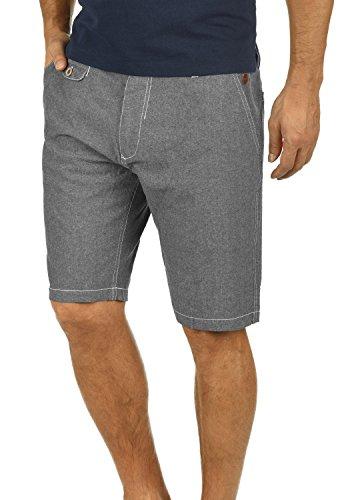Blend Ikarus Herren Leinenshorts kurze Leinenhose Bermuda In Leinen-Optik Aus 100% Baumwolle Regular Fit, Größe:L, Farbe:Black (70155)