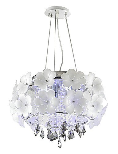 Modern Floral Pendelleuchten mit 5 Lichter in White Shade -