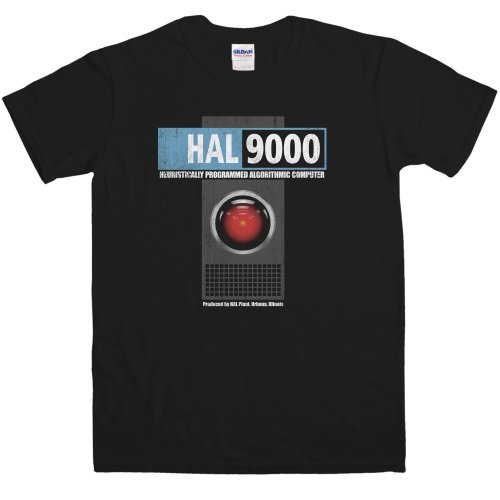 Hombre Inspired By 2001 - Hal 9000 Camiseta - Black - XXX-Large