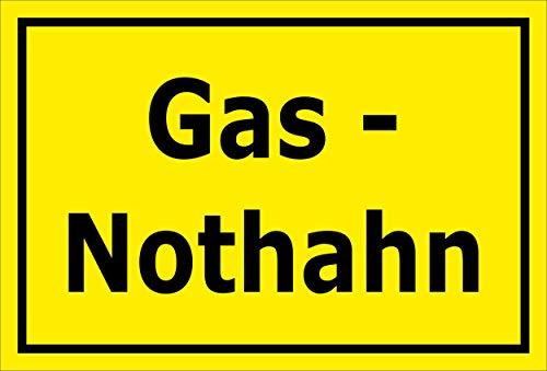 Melis Folienwerkstatt Schild - Gas-Nothahn - 15x10cm | Bohrlöcher | 3mm Aluverbund - S00070-080-C -20 VAR -