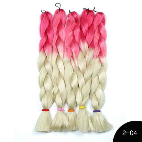 Jaminy Fasermaterial Zöpfe Bulk Haar Flechten Frisur Synthetische Haar Häkeln Geflecht (Kostüm Kopf Herr D)