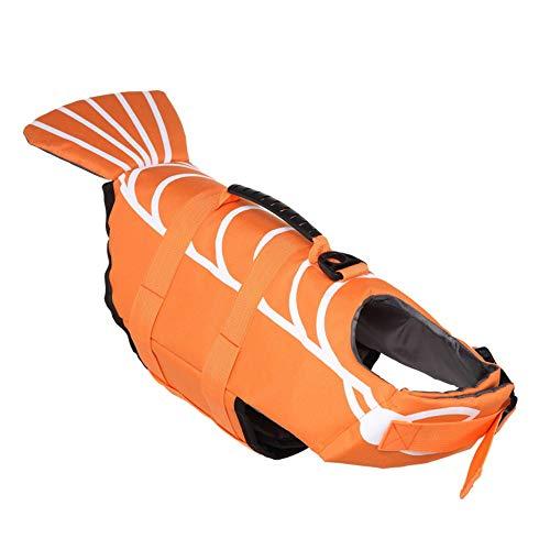 BVAGSS Hund Floatation Weste Schwimmweste Badeanzug Pet Life Saver Sicherheit Badeanzug Erhalter XH006 (S, Orange)