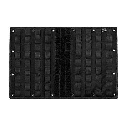 OneTigris Binokular Mehrzweck-Molle Gear Anzeige, Organizer Patch Board mit 16grommeted Löcher, MOLLE Gear Panel Organizer/Patch Display Board, Schwarz (Panel-board)
