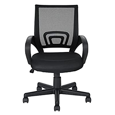 FurnitureR Black Computer Desk Chair Mesh Office Chair - cheap UK light shop.