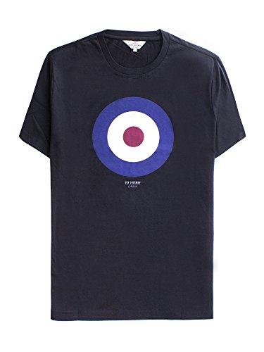 Ben Sherman Herren T-Shirt Target Tee Schwarz (Black 290)