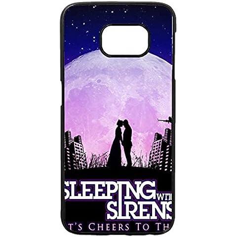 Cover per Sleeping With Sirens, Samsung Galaxy S6 - Musica Band Rock Cover / Case, Samsung Galaxy S6 Lusso Luxury Custodia - Anime Animali Aztechi Custodia Bello Apple & Samsung Galaxy