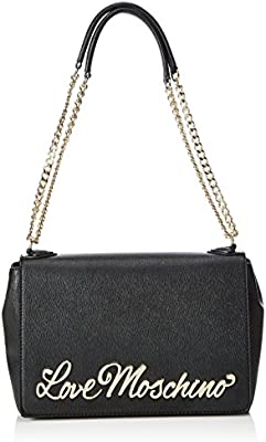 Love Moschino - Borsa Saffiano Pu Nero, Shoppers y bolsos de hombro Mujer, Schwarz (Black), 20x30x9 cm (B x H T)