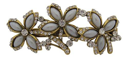 Pick A Gem Accessoires Cheveux vintage Cristal et perles Motif papillon Pince à cheveux Pince bec de mariage Accessoires Cheveux Prom Races
