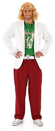 V Film Celebrity Juice berühmt Comedian Junggesellenabschied Spielshow Gastgeber Kostüm Kleid Outfit - Mehrfarbig, Medium (Berühmte Schnurrbärte Kostüme)