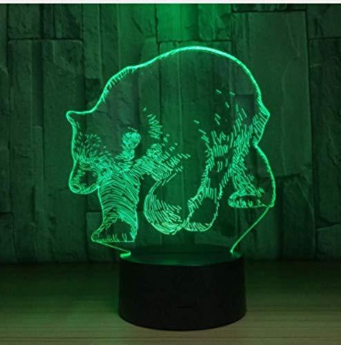Tisch- & Nachttischlampen Lampe Licht Tisch Studie Schreibtischlampe Eisbär 3D Led Lampe 5V Usb Tischlampe Nachtlichter 3D 7 Farben Wechselndes Licht Lampe Als Neujahrsgeschenk Für Kinder -