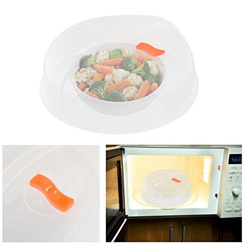 Tapa para alimentos microondas placa de vapor ventilación Ventilación Splatter pantalla transparente apto para guardar alimentos plástico tapa cocina