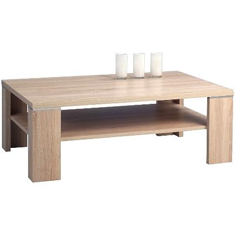 HomeTrends4You 221942 mesa de café, 110 x 40 x 70 cm, madera de roble
