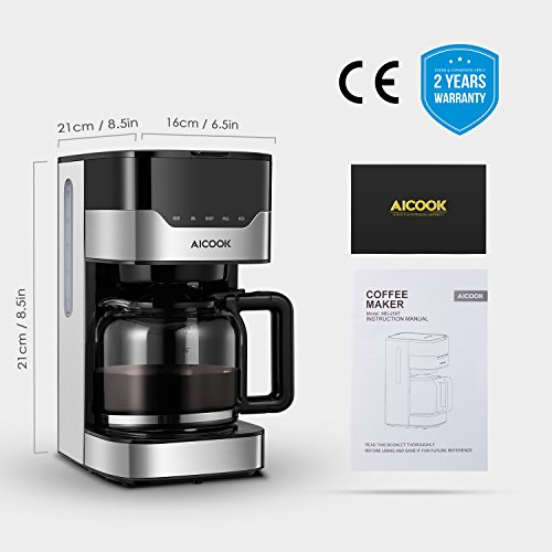 Coffee Maker Filter Coffee Machine Aicook 12 Cup Programmable