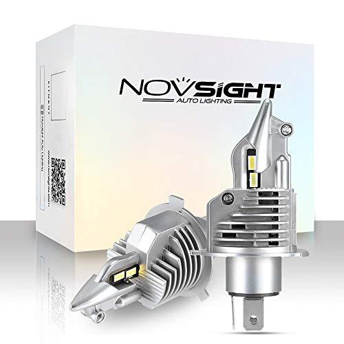 NOVSIGHT Faro LED H4 Lampadine Bulbi LED H4 50W (25W X2) 10000LM 6500 K Luci di ricambio per auto alogene e kit Xenon 2 lampade
