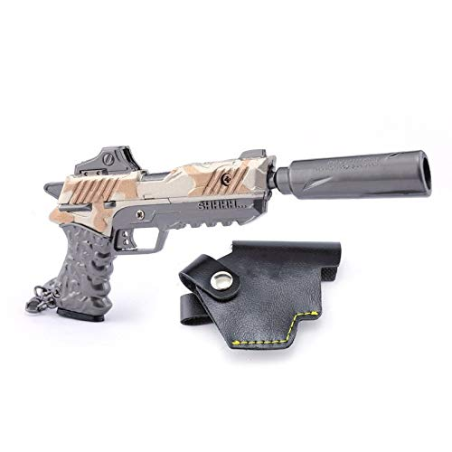 Mankecheng - Llavero con diseño de pistola, diseño de juguetes