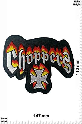 Patch-Iron-Choppers Fire 15 CM - Bigpatch - Biker - - Iron On Patches - Aufnäher Embleme Bügelbild Aufbügler