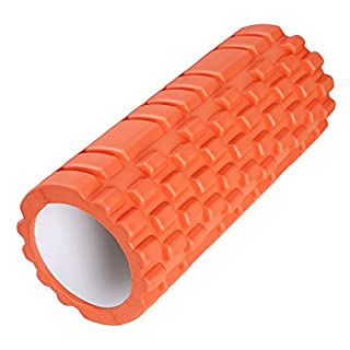 Apgstore Foam Yoga roller Exercise Trigger Point for Maggage Fitness Pilates (Orange)