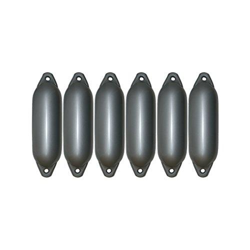 6er-Set Majoni Star 35 Fender Bootsfender silber 62 x 21 cm