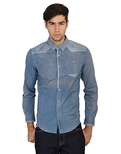 Calvin Klein Men's Striped Casual Shirt  available at amazon for Rs.3444