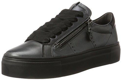 Kennel und Schmenger Damen Big Sneaker, Schwarz (Gun/Gunmetal Sohle Schwarz), 39.5 EU (6.5 UK)