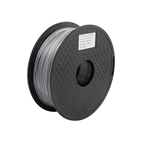 Anycubic 3D Printer PLA Filament für 3D Drucker - 1,75mm - 1kg Spule (Silber)