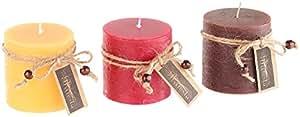 'Britesta bougies parfumées senteur de Noël dans boîte cadeau, 3pièces